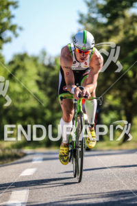 Frederik Van Lierde during the bike leg of the 2014 Ironman 70.3 Pays d'Aix, Aix en Provence on May 18, 2013.