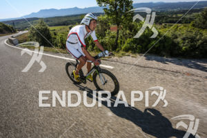 Bertrand Billard during the bike leg of the 2014 Ironman 70.3 Pays d'Aix, Aix en Provence on May 18, 2013.