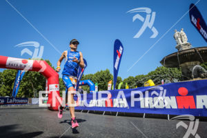 Albert Moreno Molins  during the run leg of the 2014 Ironman 70.3 Pays d'Aix, Aix en Provence on May 18, 2013.
