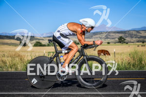 JustinDaerr on bike early in the race at the  Ironman Boulder on August 3, 2014 in Boulder, Colorado