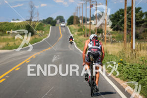 Richie Cunningham on bike in the lead at the  Ironman Boulder on August 3, 2014 in Boulder, Colorado