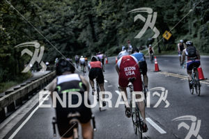 Athletes dominate the road during the bike leg at the 2014 Nation's Triathlon in Washington, D.C. on September 7, 2014.