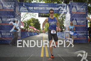 Austin Jackson takes first overall at the 2014 Nation's Triathlon in Washington, D.C. on September 7, 2014.