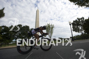 Age groupers make their way through D.C. during the bike leg at the 2014 Nation's Triathlon in Washington, D.C. on September 7, 2014.