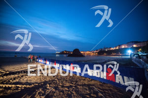 Sunrise at the 2014 Ironman Wales in Tenby, Pembrokeshire, Wales, United Kingdom on September 14, 2014.