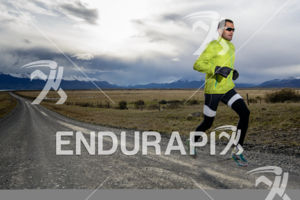 Athlete training for the 2014 Ultra Trail Torres del Paine in Puerto Natales, Patagonia, Chile,  on September 26, 2014.