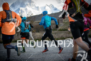 Race start at the 2014 Ultra Trail Torres del Paine in Puerto Natales, Patagonia, Chile,  on September 26, 2014.