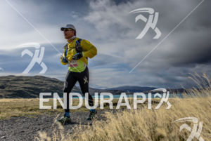 Running at the 2014 Ultra Trail Torres del Paine in Puerto Natales, Patagonia, Chile,  on September 26, 2014.