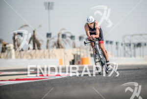 Hannes Cool during the bike portion of the 2014 Challenge Bahrain in Bahrain on December 6, 2014.