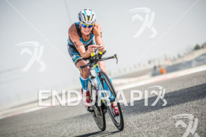 Melissa Hauschildt during the bike portion of the 2014 Challenge Bahrain in Bahrain on December 6, 2014.