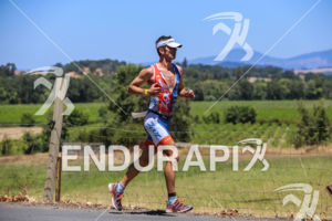 Eric Clarkson on run at the 2015 Vineman Triathlon on July 25 in Sonoma County, California