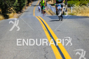 Andrew Drobeck currently in 2nd place on the run at the 2015 Vineman Triathlon on July 25 in Sonoma County, California