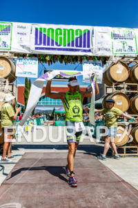 Andrew Drobeck is the first pro man at the 2015 Vineman Triathlon on July 25 in Sonoma County, California