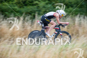 Ruedi Wild competes during the bike leg of the Ironman 70.3 European Championship on August 9, 2015 in Wiesbaden, Germany
