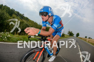 Andreas Raelert competes during the bike leg of the Ironman 70.3 European Championship on August 9, 2015 in Wiesbaden, Germany