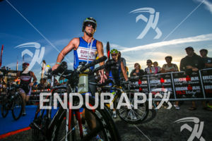 Age group athlete(s) during the bike leg of the inaugural 2015 Ironman 70.3 Vichy in Vichy, France on August 30th, 2015