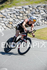 Ruedi Wild competes during the bike leg of the 2015 Ironman 70.3 World Championship in Zell am See, Austria on August 30, 2015.