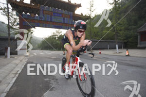 Greg Bennett (AUS) on the up hill attack at the 2015 Beijing International Triathlon on September 20, 2015 in Beijing, China.