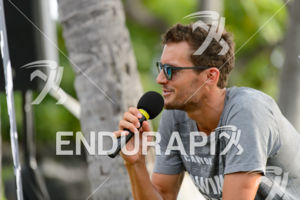 Jan Frodeno on a press event hosted by his sponsor Oakley  prior to the 2015 Ironman World Championship 2015 in Kailua-Kona, Hawaii
