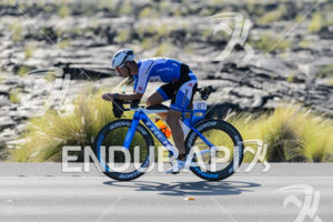 Fraser Cartmell (GBR) competes during the bike leg at the 2015 Ironman World Championship in Kailua-Kona, HI on October 10, 2015.
