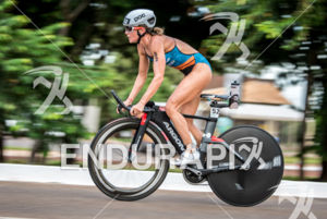 Magali Tisseyre during the bike  portion of the 2016 Ironman 70.3 Palmas South American Championship in Palmas, TO, Brazil on April 10, 2016.