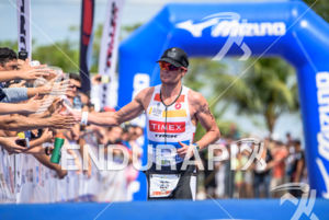 Leon Griffin finishes 2nd at the 2016 Ironman 70.3 Palmas South American Championship in Palmas, TO, Brazil on April 10, 2016.