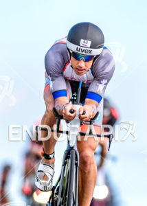 Andreas Boecherer during the bike leg at the Ironman European Championship in Frankfurt, Germany on July 03, 2016