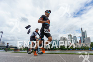Eneko Llanos during the run leg at the Ironman European Championship in Frankfurt, Germany on July 03, 2016