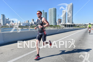 Ben Collins during the run portion of the 2016 Ironman 70.3 Miami in Miami FL, USA on October 23, 2016.