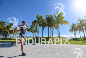 Rodolphe Von Berg during the run portion of the 2016 Ironman 70.3 Miami in Miami FL, USA on October 23, 2016.