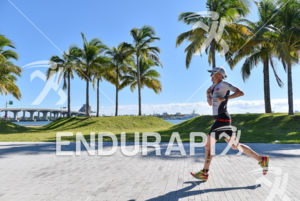 Astrid Steinen during the run portion of the 2016 Ironman 70.3 Miami in Miami FL, USA on October 23, 2016.