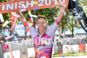 Ellie Salthouse during the finish portion of the 2016 Ironman 70.3 Miami in Miami FL, USA on October 23, 2016.