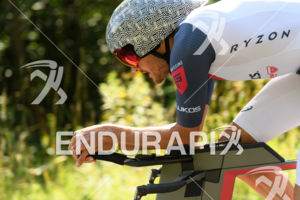 Jan Frodeno (GER) competes during the bike leg at the 2017 Ironman Austria in Klagenfurt, Austria on July 2, 2017.