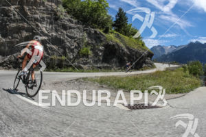 Bike leg with the one of the world most famous climb of the Alpe d'Huez short distance Triathlon in France on July 28th, 2017.