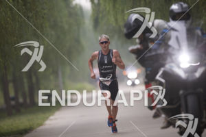 Henri Schoeman on the run course at the 2017 Beijing International Triathlon on September 10, 2017 in Beijing, China.