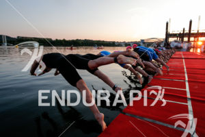 Race swim start of the 2017 Ironman 70.3 World Championship in Chattanooga, TN, USA, on Sep. 09, 2017.