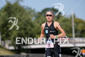 Helle Frederiksen during the run portion of the 2017 Ironman 70.3 World Championship in Chattanooga, TN, USA, on Sep. 09, 2017.
