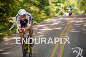 Pro Andrew Starykowicz off the front on the bike course at the 2017 Ironman Wisconsin on September 10, 2017 in Madison, WI.