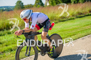 Pro Stefan Schmid cruising on the bike course at the 2017 Ironman Wisconsin on September 10, 2017 in Madison, WI.