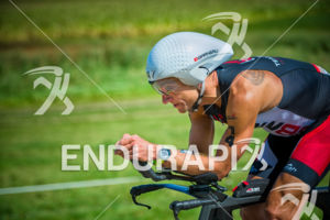 Pro Blake Becker pushing hard on the bike course at the 2017 Ironman Wisconsin on September 10, 2017 in Madison, WI.