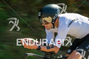 Pro Patrick Brady showing style  on the bike course at the 2017 Ironman Wisconsin on September 10, 2017 in Madison, WI.