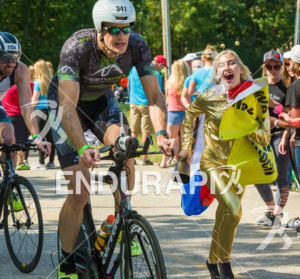 Fans show their personality well on the biggest hills on the bike course at the 2017 Ironman Wisconsin on September 10, 2017 in Madison, WI.