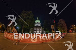 After dark finishers got a great view of the gorgeous State Capitol biulding at the 2017 Ironman Wisconsin on September 10, 2017 in Madison, WI.