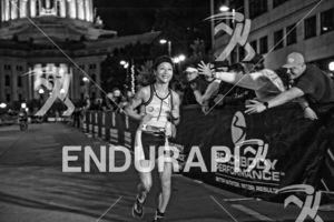 The finish line is always a welcome and refreshing site at the 2017 Ironman Wisconsin on September 10, 2017 in Madison, WI.