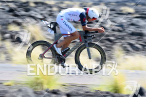 Jan Frodeno (GER) competes during the bike leg at the 2017 Ironman World Championship in Kailua-Kona, Hawaii on October 14, 2017. Photo: Michael Rauschendorfer / picture-alliance