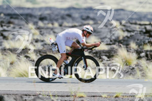 Ruedi Wild (SUI) competes during the bike leg at the 2017 Ironman World Championship in Kailua-Kona, Hawaii on October 14, 2017.
