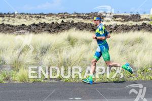 Andy Potts (USA) competes during the run leg at the 2017 Ironman World Championship in Kailua-Kona, Hawaii on October 14, 2017.