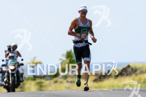 Lionel Sanders (CAN) competes during the run leg at the 2017 Ironman World Championship in Kailua-Kona, HI on October 14, 2017.