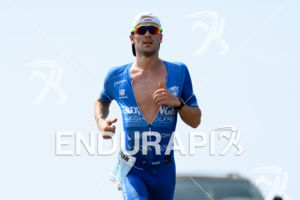 Patrick Lange (GER) competes during the run leg at the 2017 Ironman World Championship in Kailua-Kona, Hawaii on October 14, 2017.