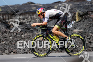 Sebastian Kienle (GER) competes during the bike leg at the 2017 Ironman World Championship in Kailua-Kona, Hawaii on October 14, 2017.